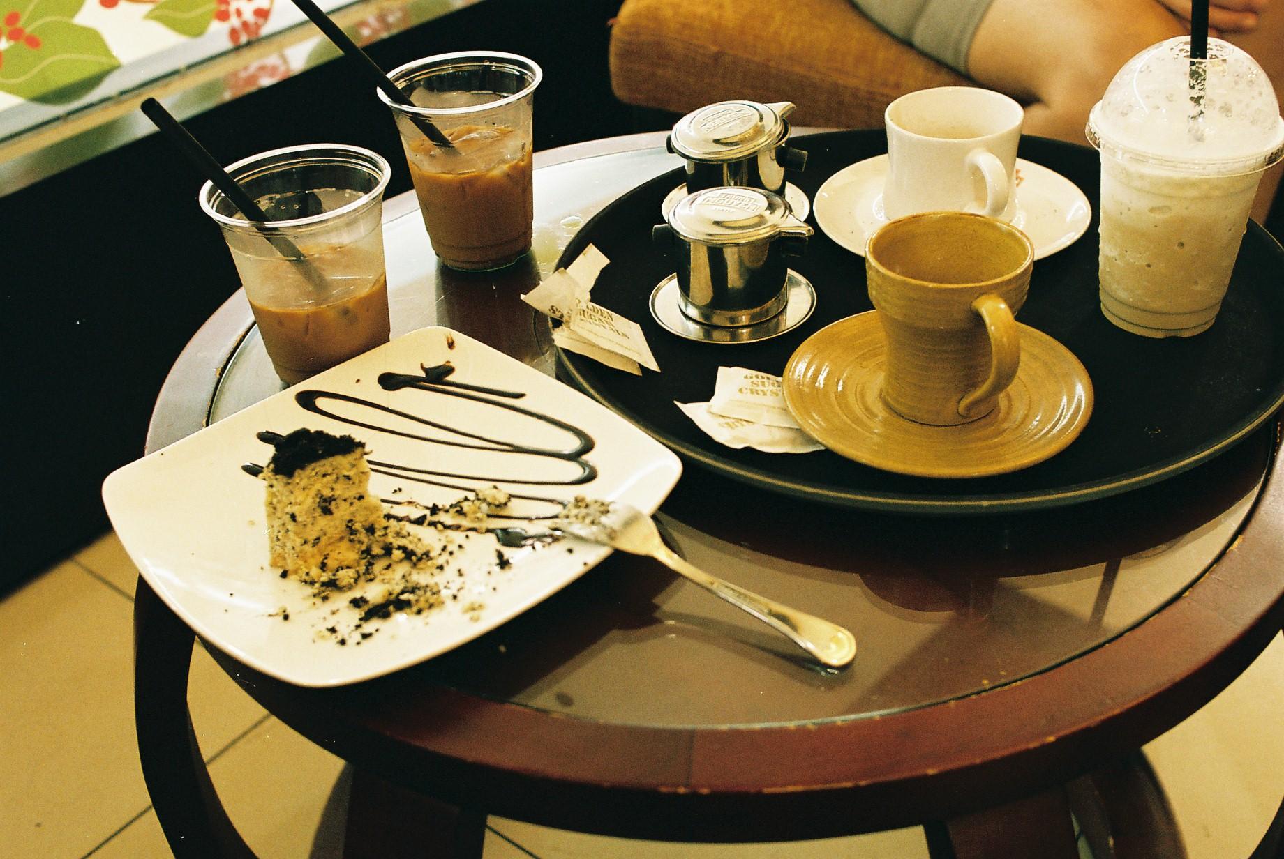 Vietnamese coffee and Oreo cheesecake
