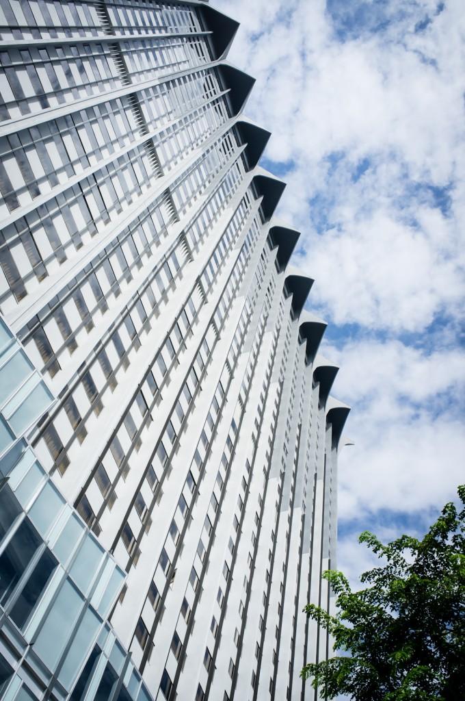 Street photography - Looking up at Mandarin Orchard Singapore