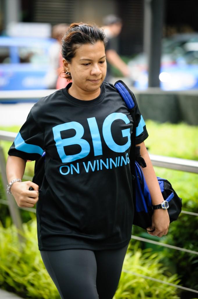 Street photography - T-shirt Big on winning