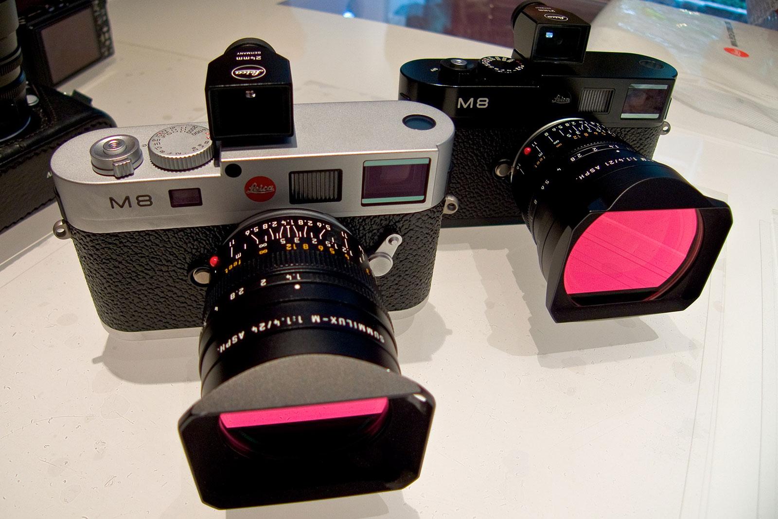 Black and chrome Leica M8s