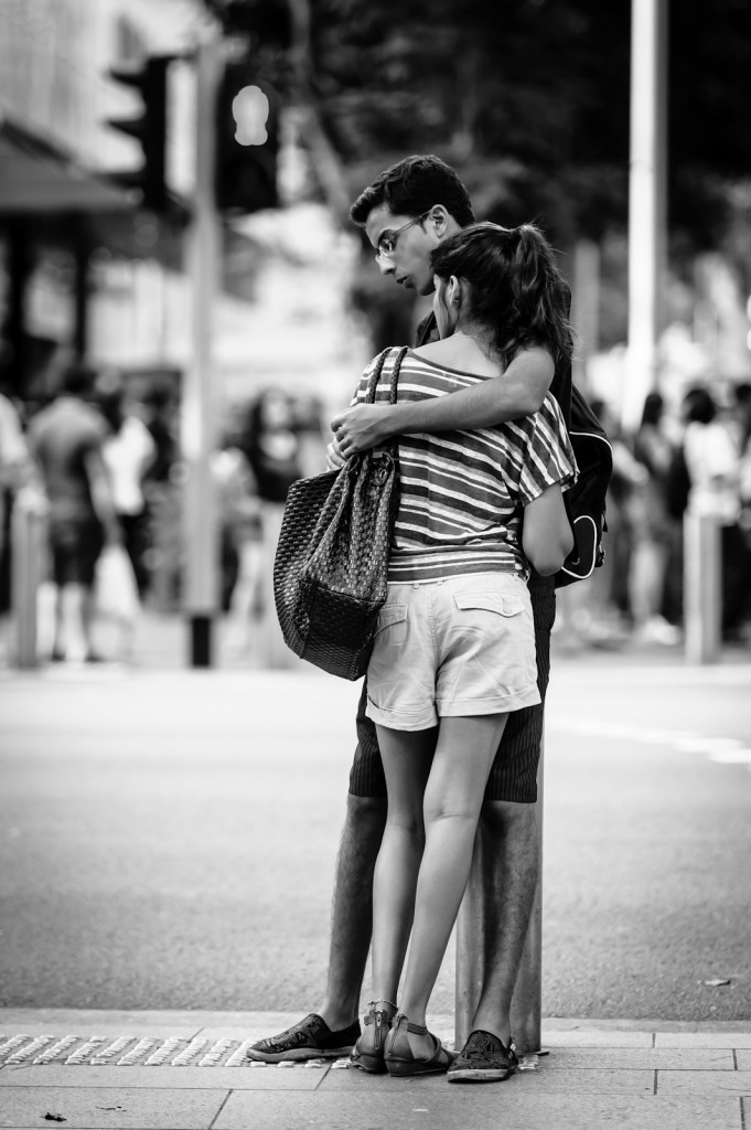 Street photography - Couple in Orchard Road