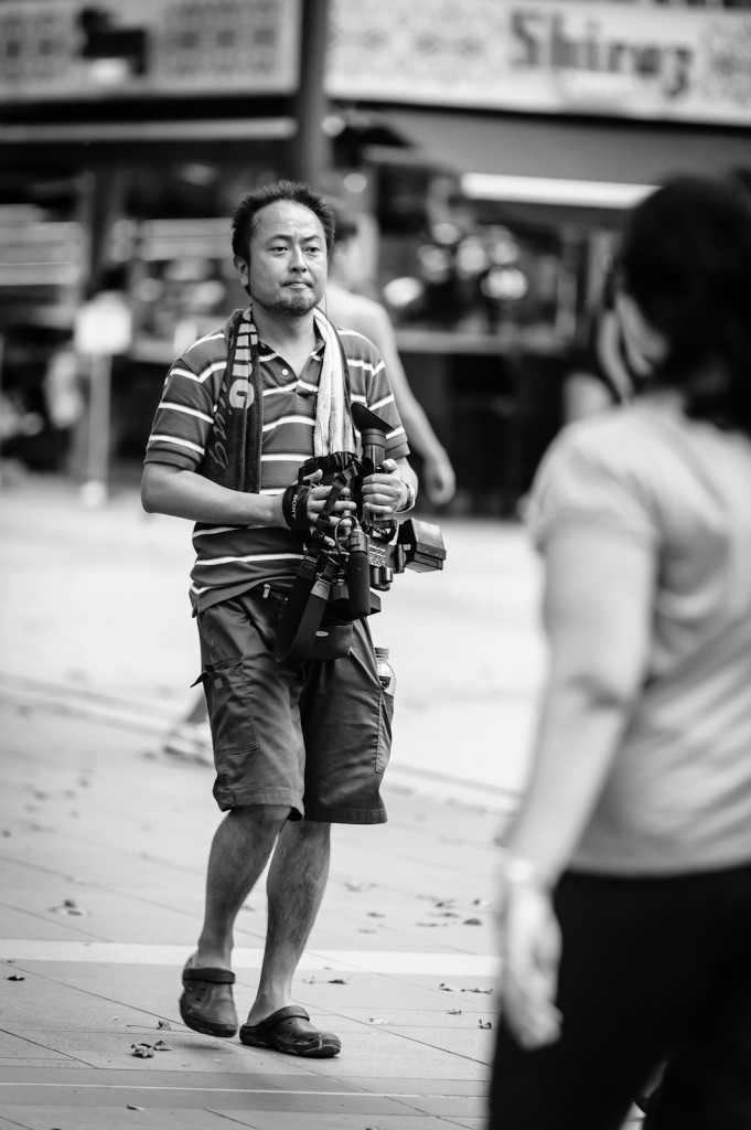 Street photography - videographer at work
