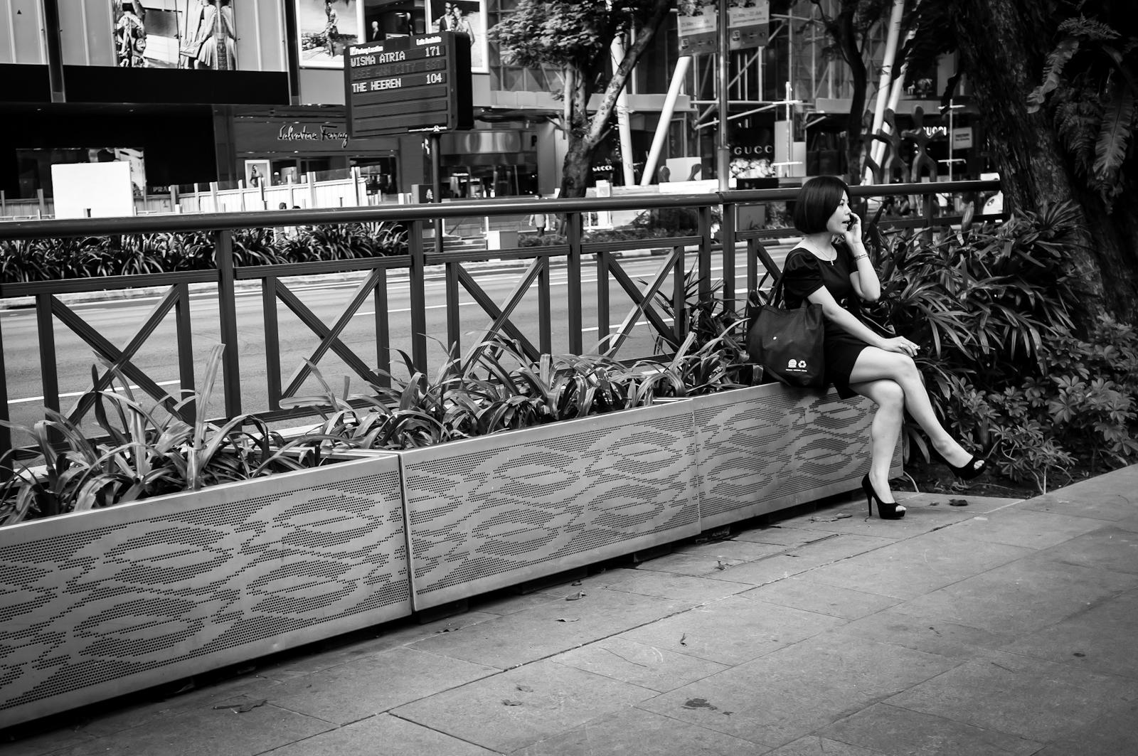 Street photography - Woman smoking