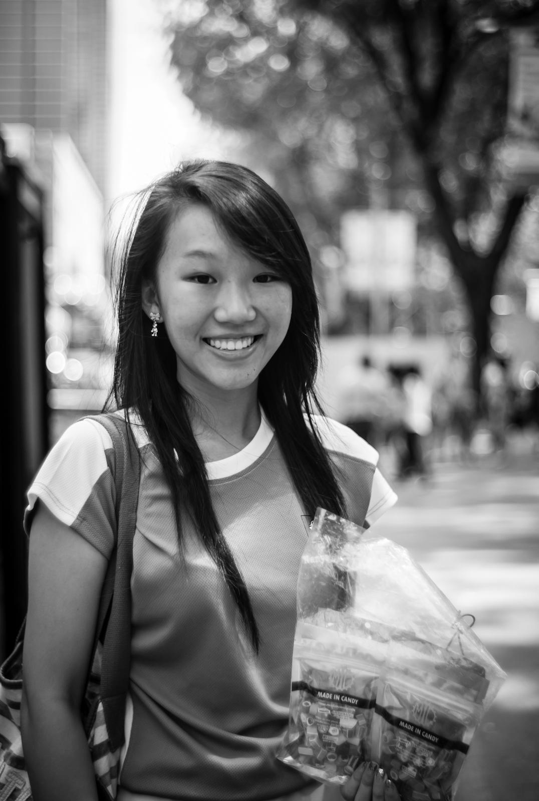 Street photography - volunteer from Nanyang Junior College