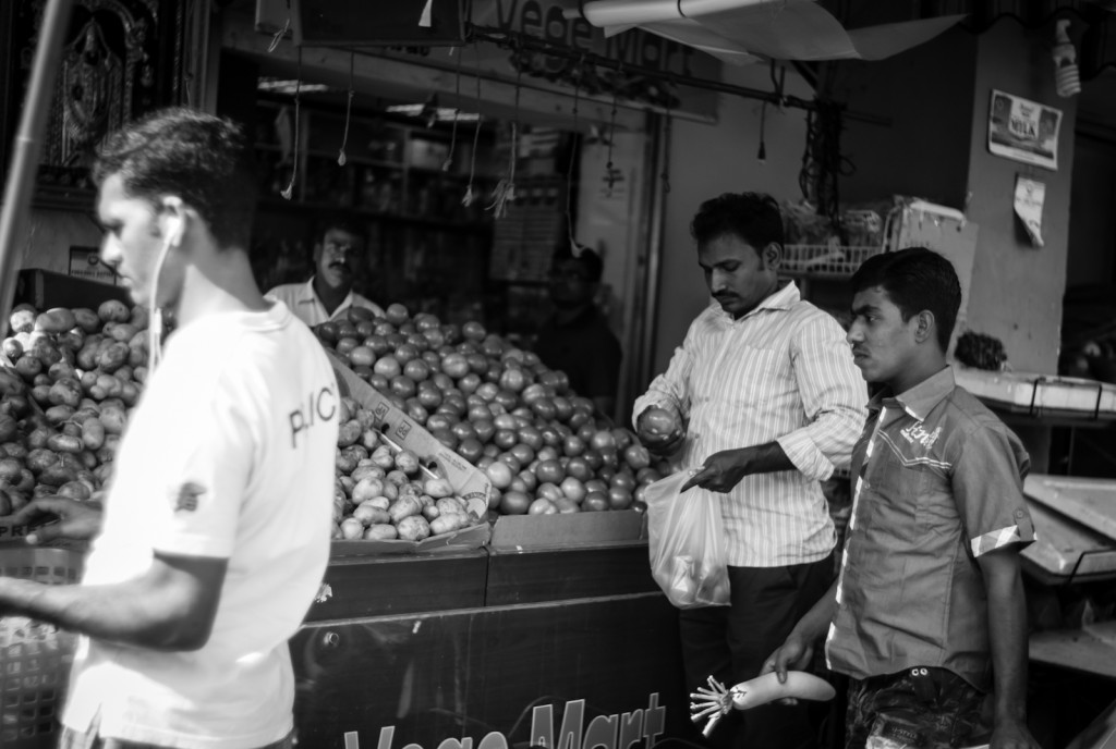 Street photography - Indian grocer