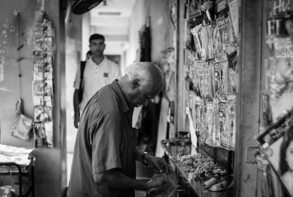 Street photography - Shopkeeper in Little India