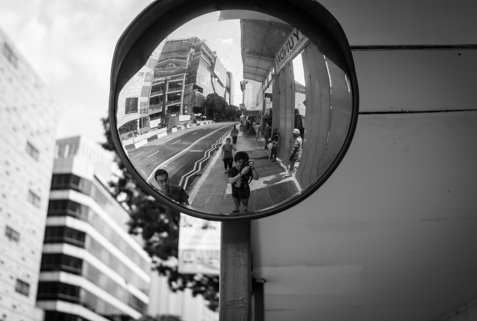 Street photography - Photo of myself in the mirror