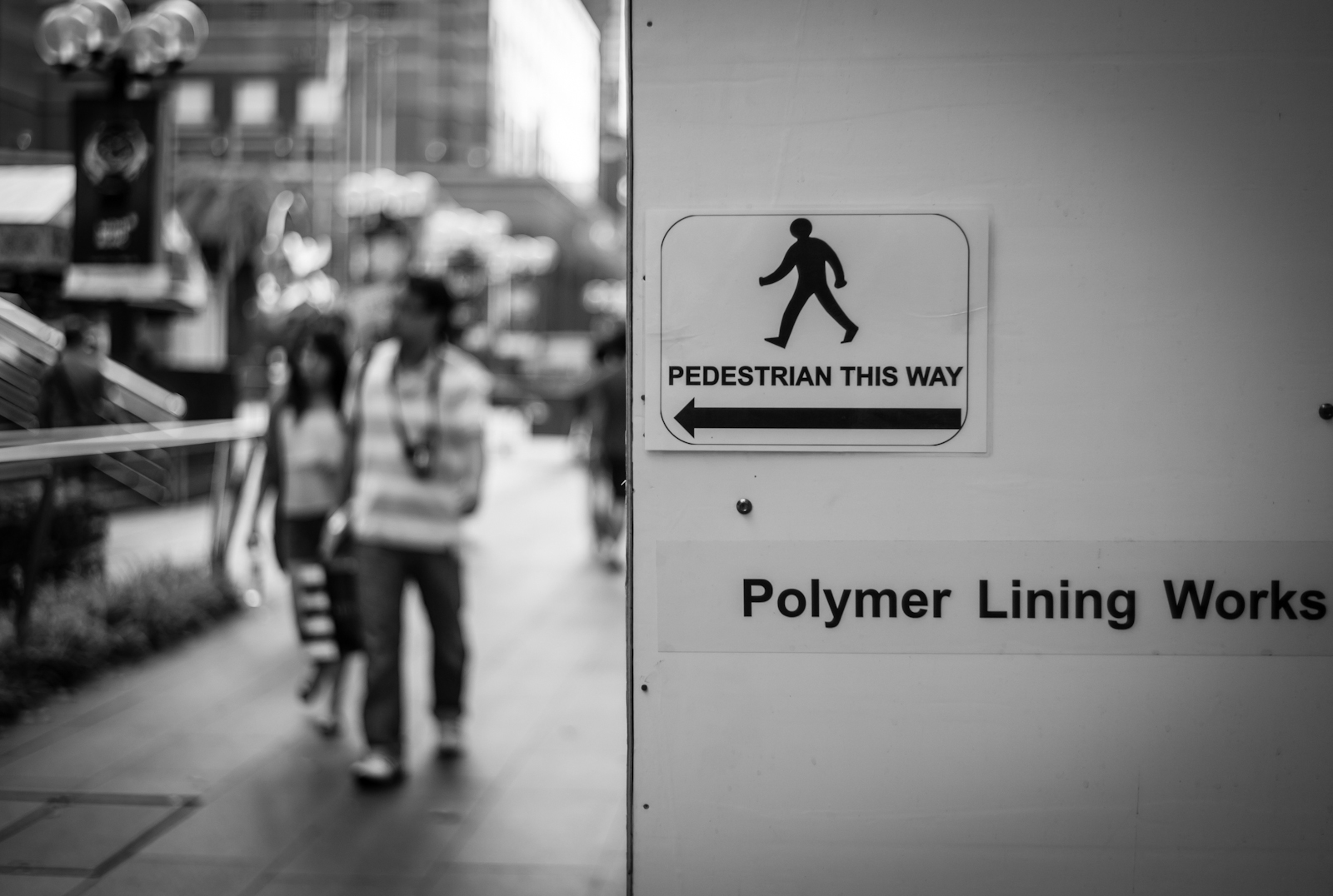 Street photography - Sign along Orchard Road