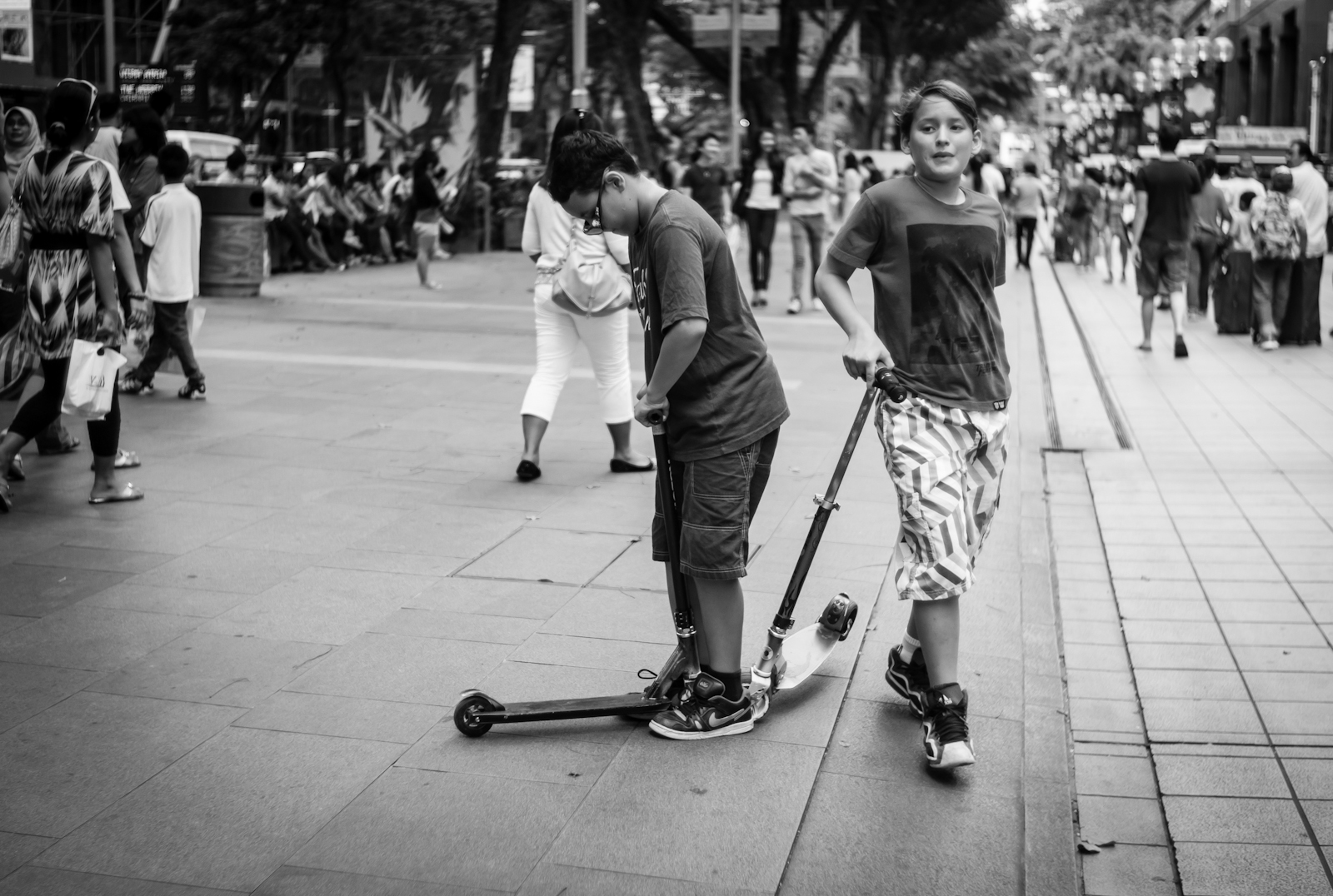 Street photography - Kids with their scooters