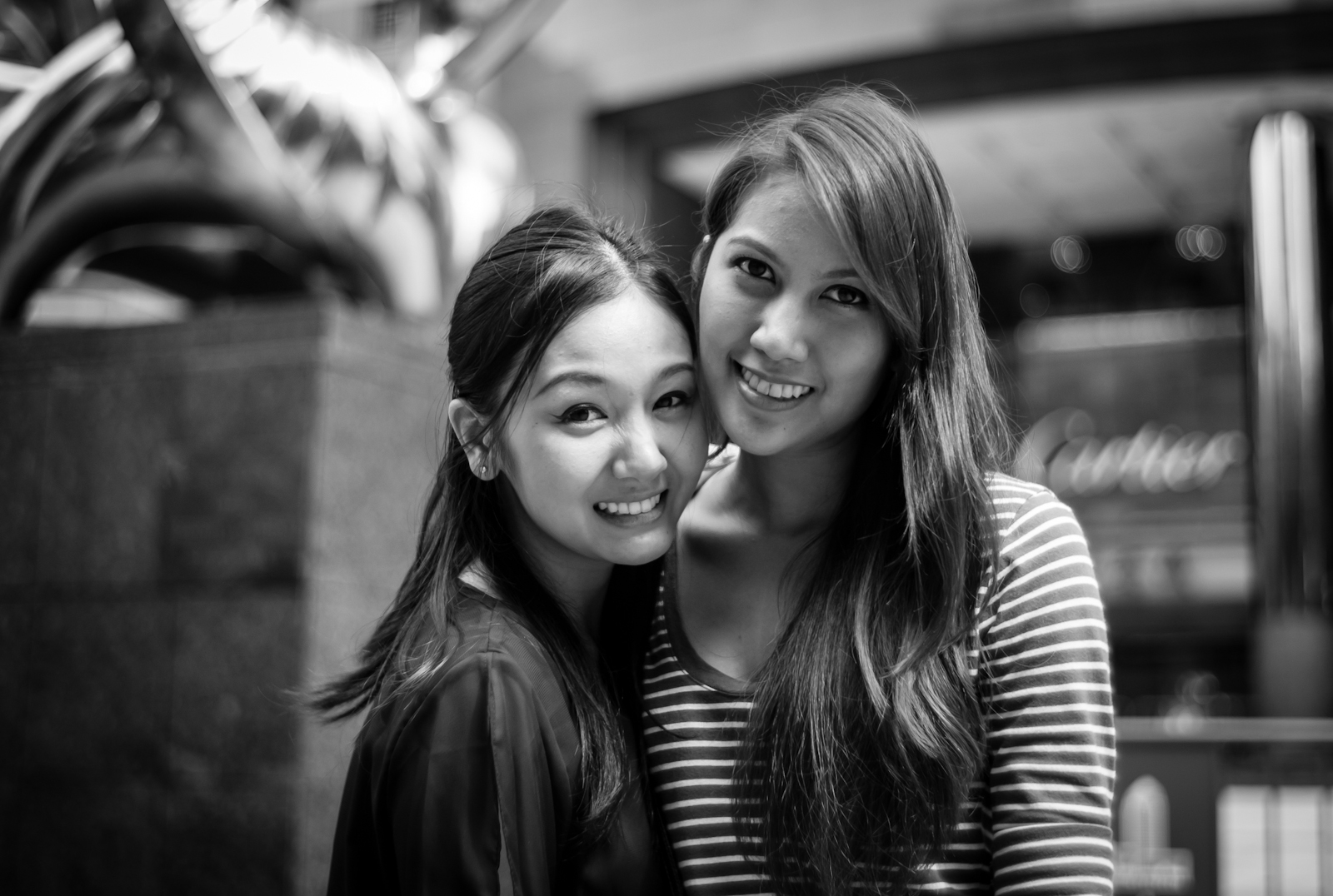 Street photography - Two women in Orchard Road