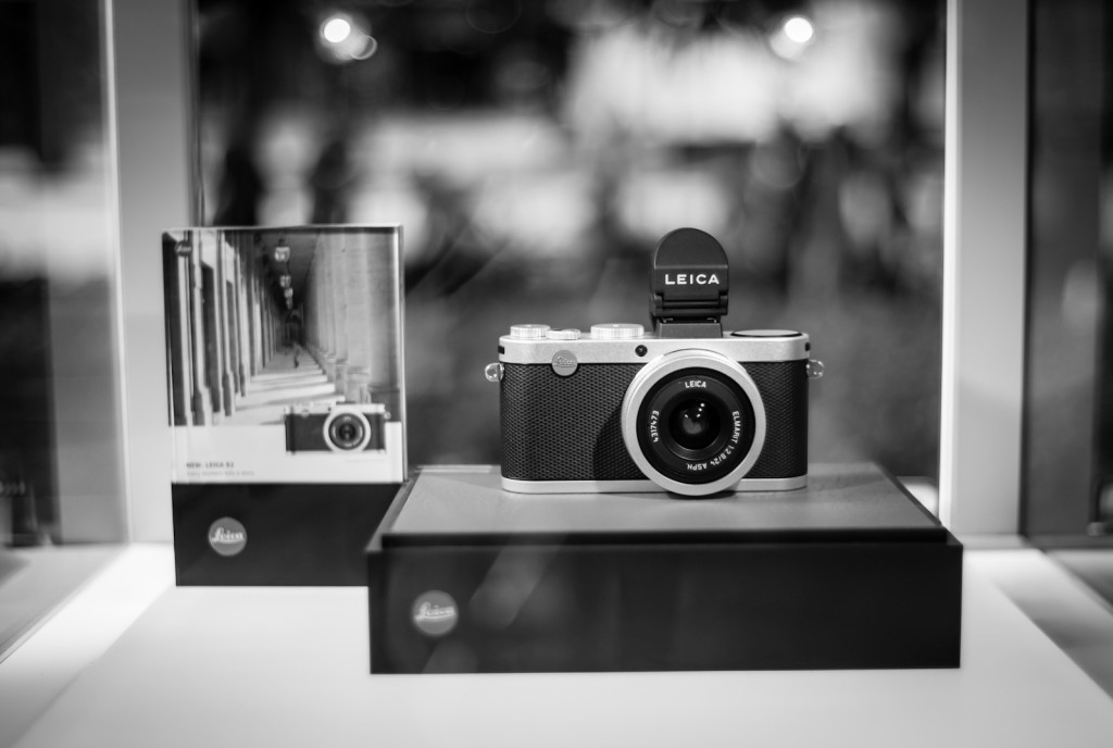 Street photography - Leica X2 on display
