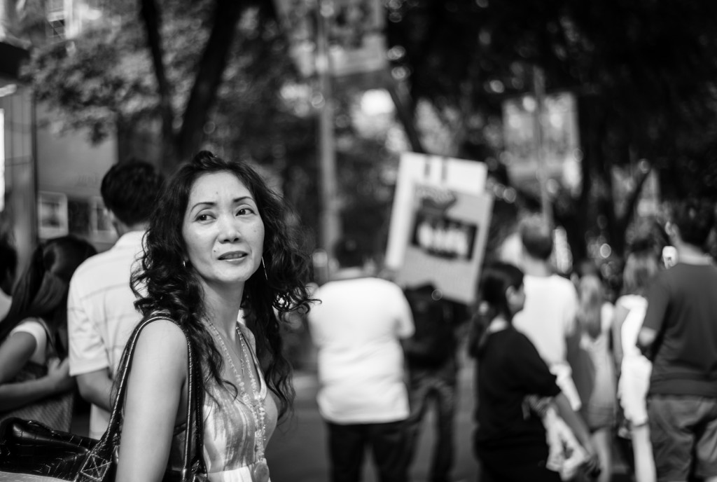 Street photography - Woman in Orchard Road