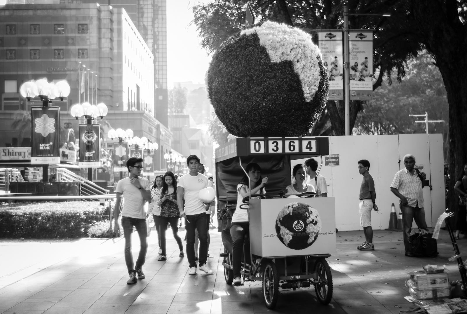 Street photography - Body Shop promotion