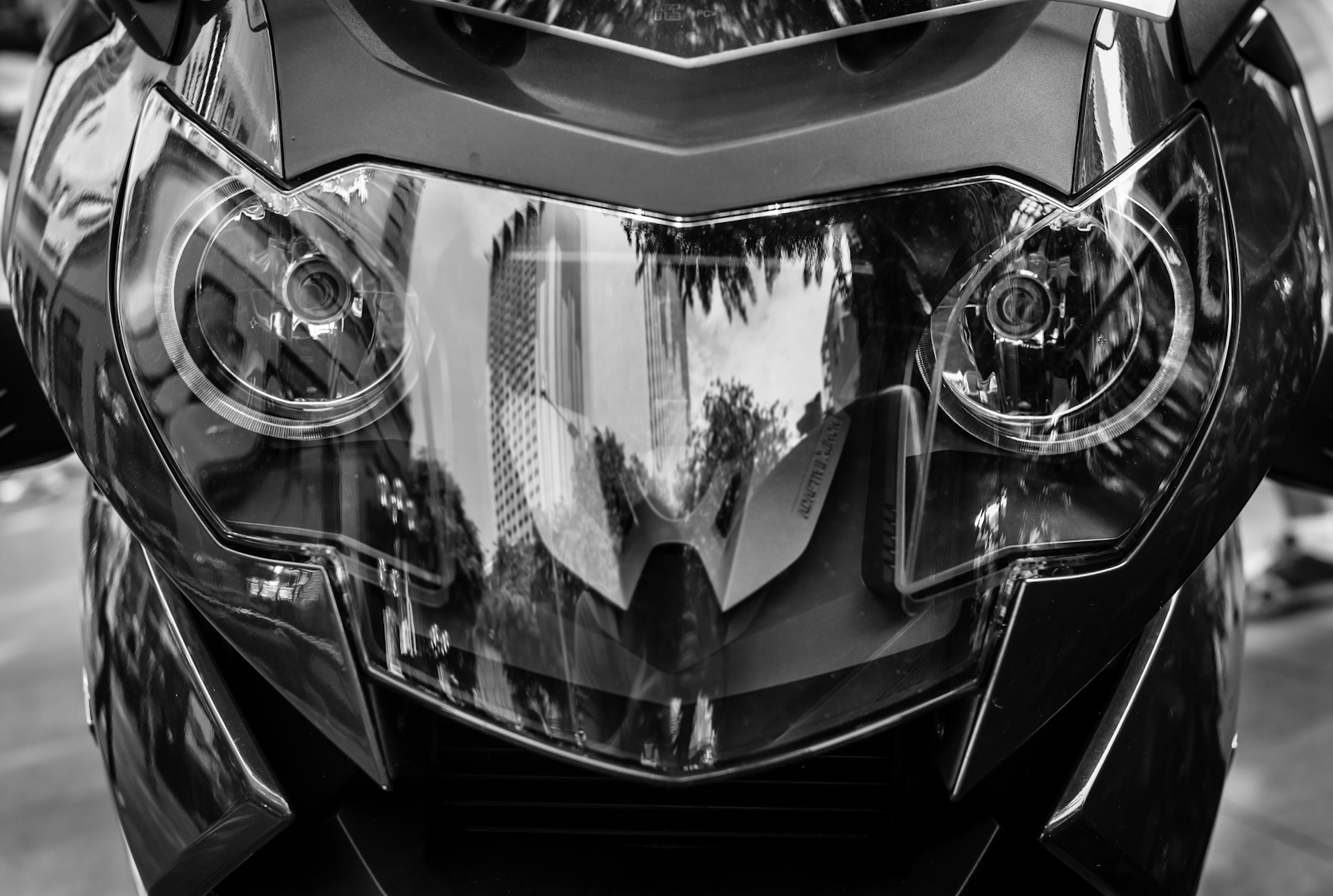 Headlights of a motorcycle