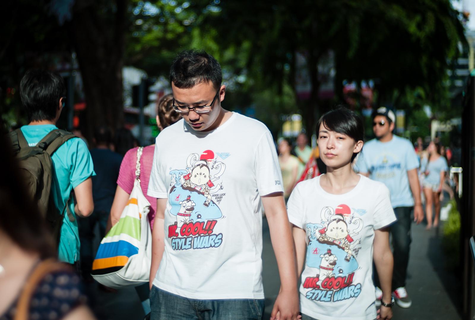 T-shirts. Twin shirts.