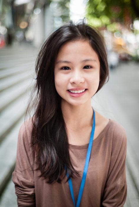 Teenager along Orchard Road