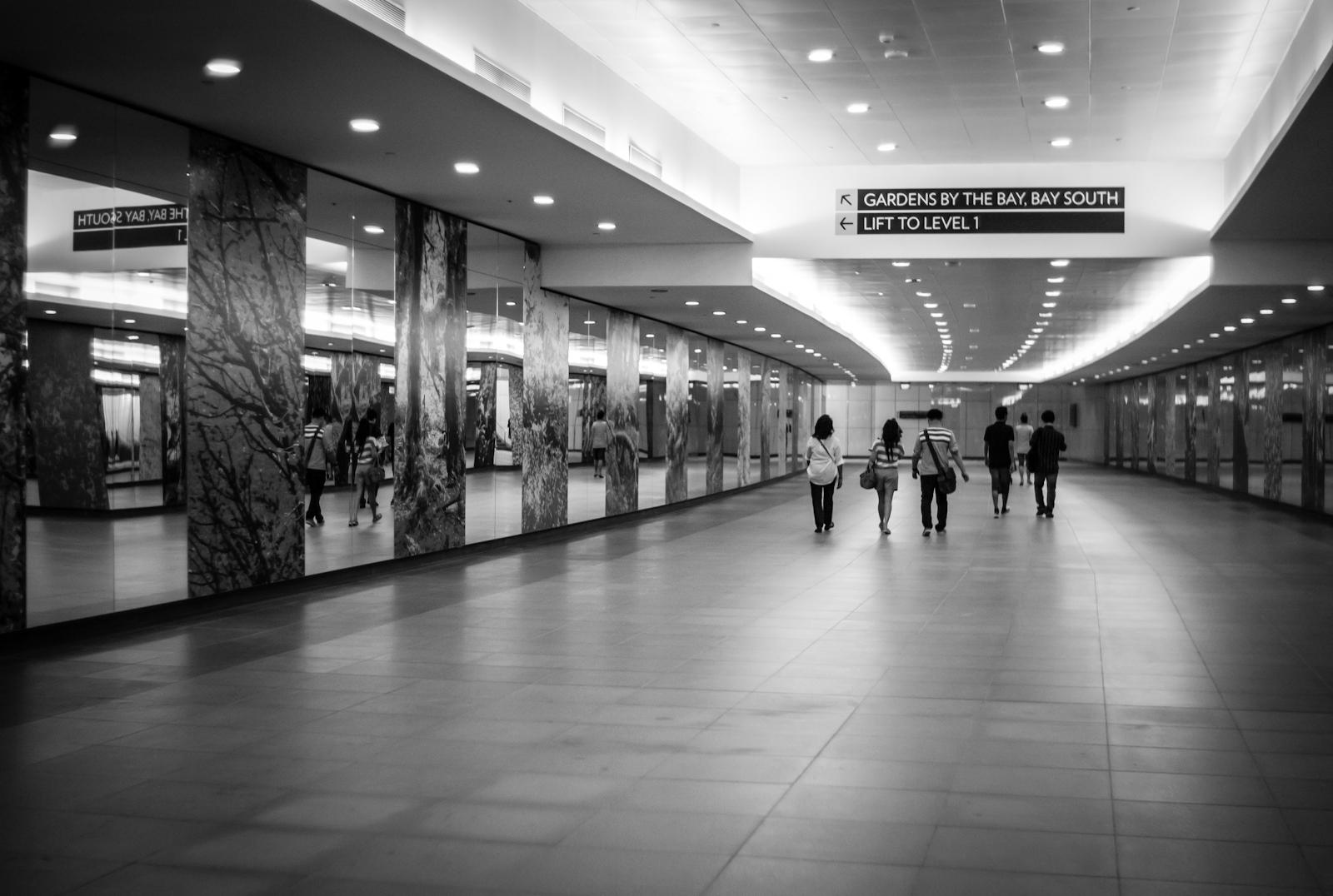 Underground passage in Singapore