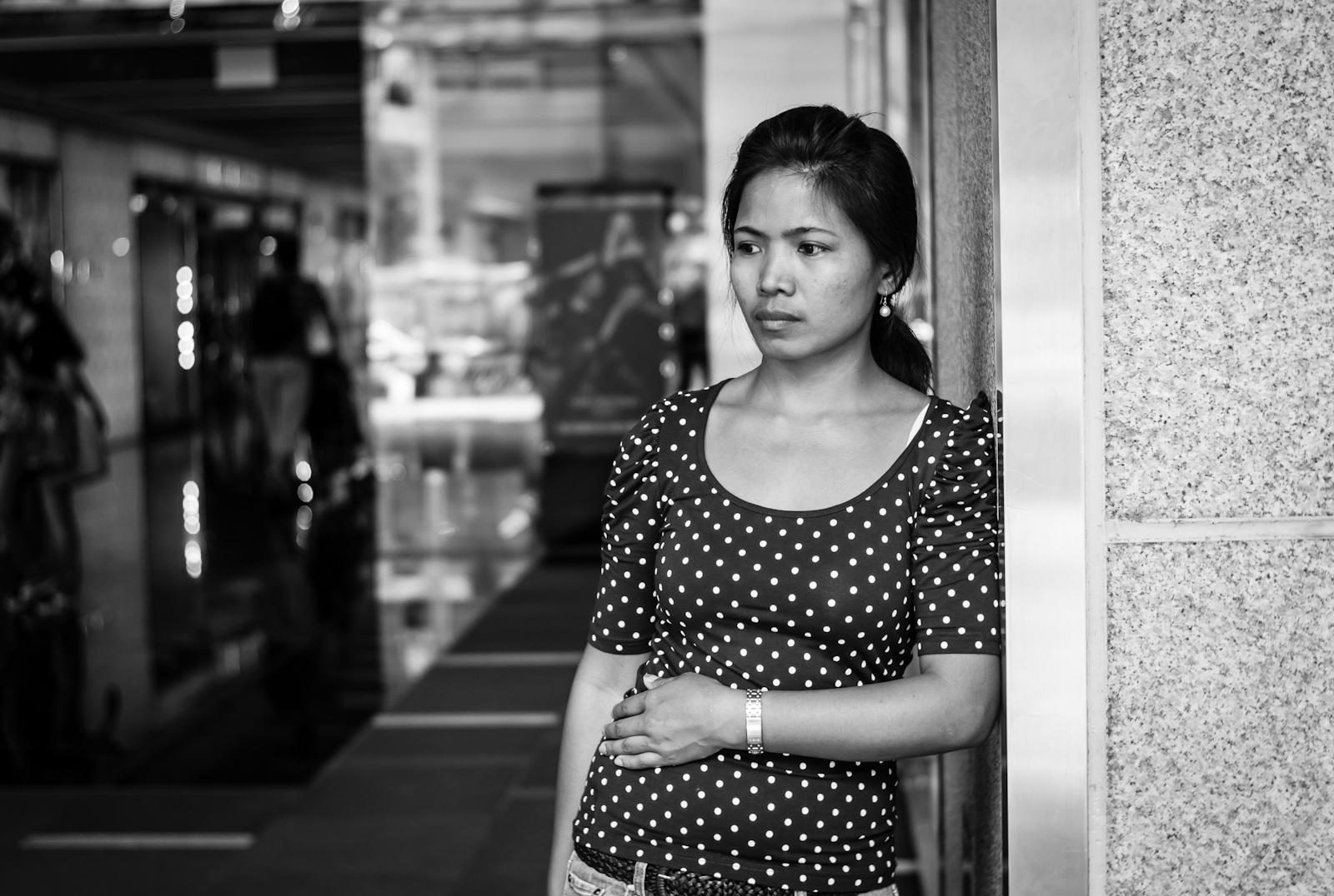 Woman in Orchard Road