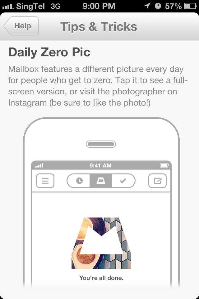Mailbox daily zero