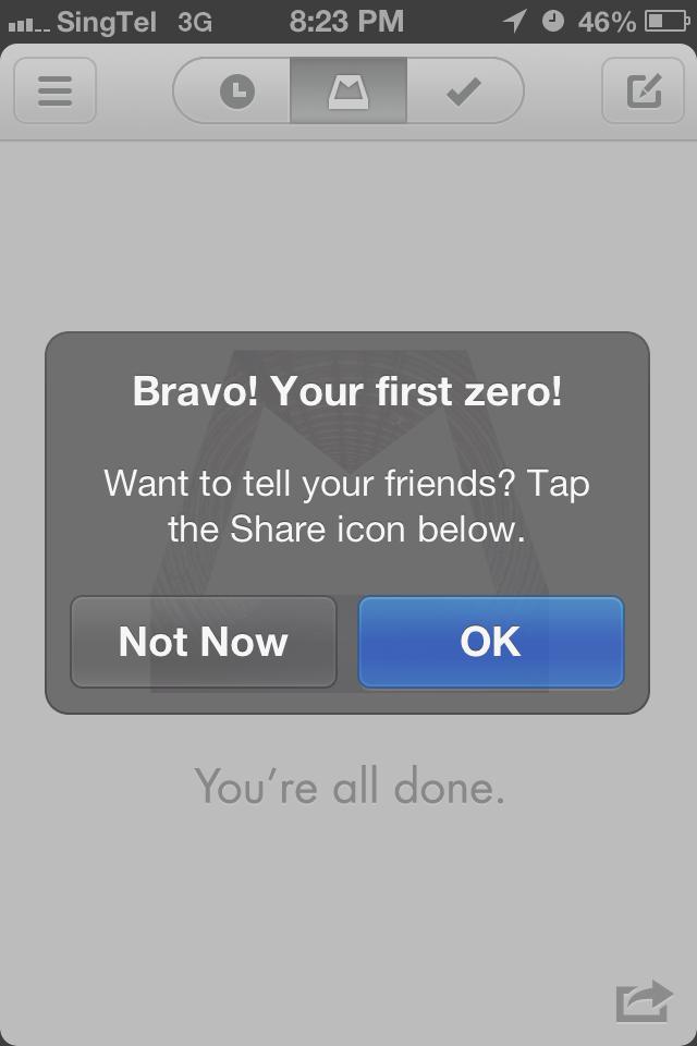 Mailbox first zero