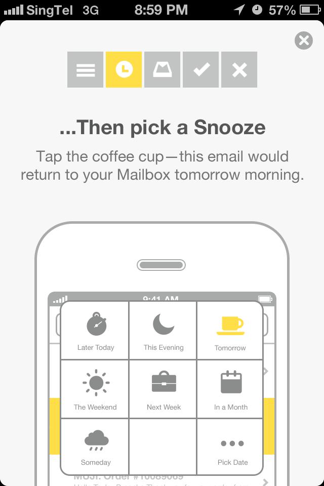 Mailbox snooze