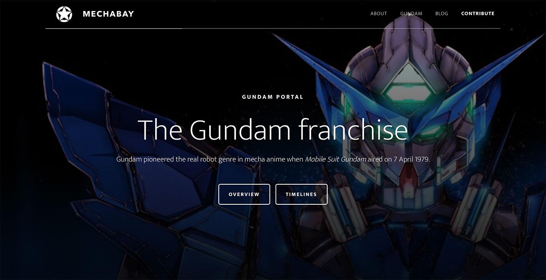 Gundam Portal on MechaBay